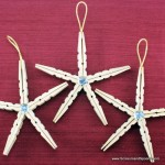 2.  Clothespin Star Ornaments
