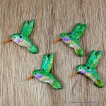 5.  Salt Dough Hummingbird Ornaments
