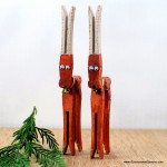 1.  Clothespin Reindeer Ornaments